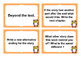 Fountas and Pinnell Type Fiction Comprehension  Question Cards