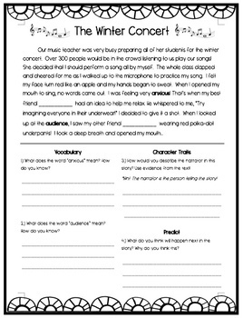 Four 2nd Grade Reading Passages with Comprehension Questions (Editable)
