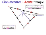 Four (4) Points of Triangle Concurrency