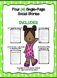 Four (4) Single-Page Social Stories