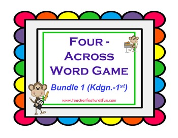 Four - Across Word Games (Bundle 1: Kindergarten & 1st Grade)