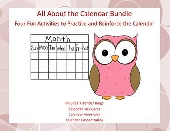 Four Activities to Practice and Reinforce Calendar Skills-Bundle