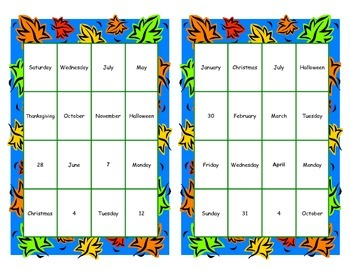 Calendar Skills Bundle-Game and Task Cards