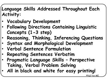 NO PREP Four Lessons to Develop Expressive, Receptive and Pragmatic Language