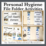 Personal Hygiene File Folder Activities - Picture & Word Match