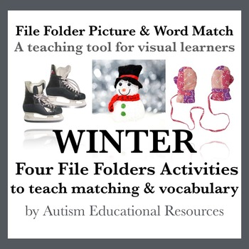 Winter File Folder Activities - Picture & Word Match