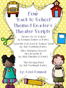 "Four ""Back to School"" Themed Reader's Theater Scripts Base"