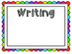 Four Blocks Literacy Activity Posters *Rainbow