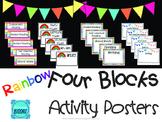 Four Blocks Literacy Activity Posters *Rainbow