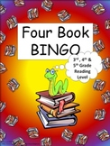 Four Book BINGO (3rd, 4th and 5th grade)- BUNDLE PACK- reading