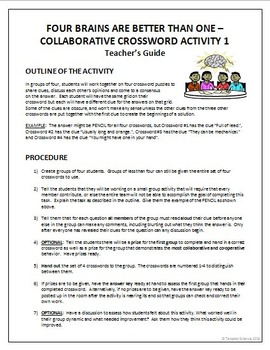 Four Brains are Better than One - Collaborative Ice Breaking Activity {Editable}