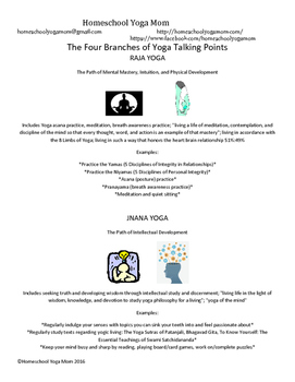 Four Branches of Yoga Talking Points