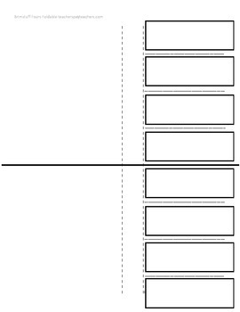 Four-Category Foldable