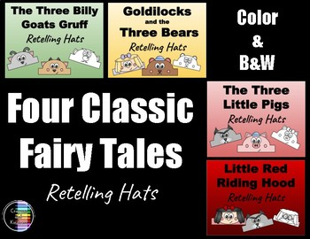 Four Classic Fairy Tales - Retelling Character Hats - Bundle
