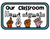 Four Classroom Hand Signals Title Sign
