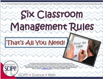 Six Classroom Management Rules - That's All You Need!