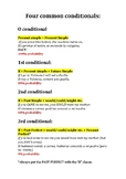 Four Common Conditionals