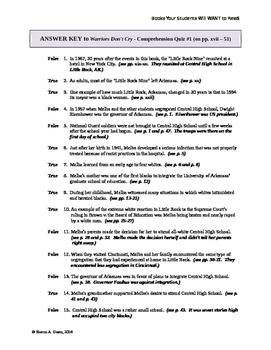 """WARRIORS DON'T CRY"" Four Comprehension Quizzes (unabridged version)"