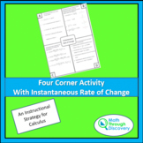 Four Corner Activity with Instantaneous Rate of Change