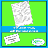 Four Corner Activity with Odd-Even Functions
