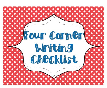 Four Corner Writing Checklist