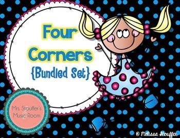 Four Corners - A Rhythm Assessment Game {Bundle} 