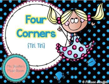 Four Corners - A Rhythm Assessment Game {Tiri Tiri}