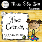 Four Corners - A Solfege Melodic Assessment Game {S,L,T,DR