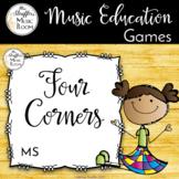 Four Corners - A Solfege Melodic Assessment Game {Sol Mi}