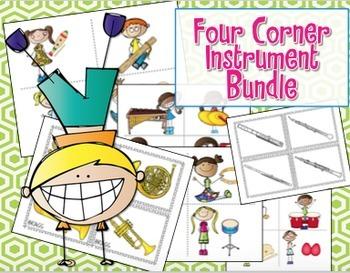 Four Corners - Assessment Game {Instrument Bundle} #musicontpt