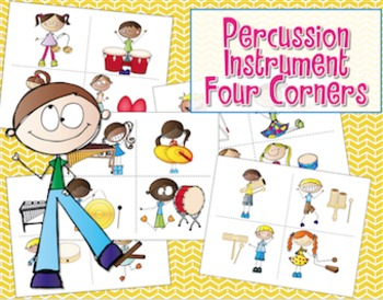 Four Corners - Assessment Game {Percussion Instruments}