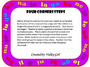 Four Corners: B, N, F, L, y G Cuatro Esquinas