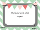 Four Corners Back To School Get To Know You Game  (Editable)