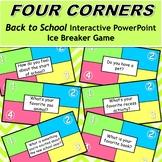 Four Corners Back To School Ice Breaker Activity