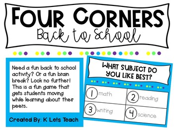 Four Corners Back to School