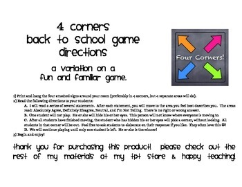 Four Corners: Back to School Edition!