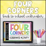Four Corners- Back to School Icebreaker (Distance Learning)