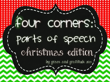 Four Corners: Christmas Parts of Speech