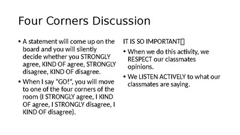Four Corners Discussion PowerPoint