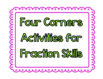 Four Corners Fraction Skills
