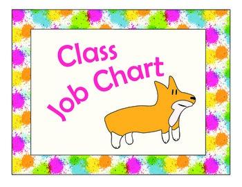 Free Class Job Chart