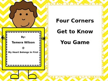 Four Corners Get to Know You Game
