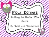 Four Corners Getting to Know You Game - Owl Version