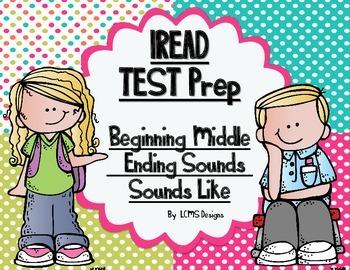 IREAD Classroom Interactive Practice (4 Corners Game) Begin, Middle, End