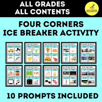 Four Corners Ice Breaker Activity - 4 Corners Activity Great For Any Content