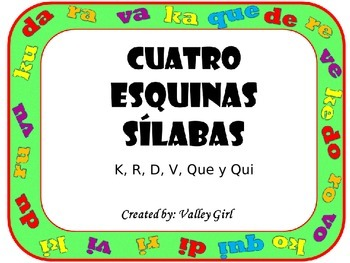 Four Corners: K, R, V, D, Que and Qui