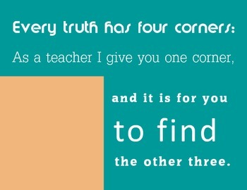 Four Corners Poster {teal}