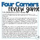 Four Corners Review Game - Shapes