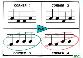 Musical Four Corners, Sol - Mi