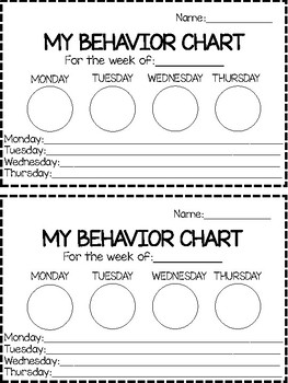 Preschool behavior charts teaching resources teachers pay teachers